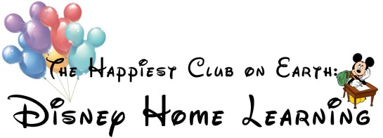 DIsney home learning Blog title