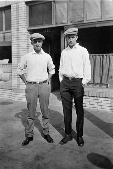 Walt & Roy in front of Kingswell Studios